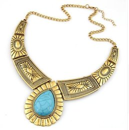 $enCountryForm.capitalKeyWord Australia - Wholesale Fashion New Design Maxi Necklace Vintage Gem Geometric Thread Statement Necklaces & Pendants For Women Collar XY-N12