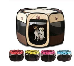 $enCountryForm.capitalKeyWord Australia - Portable Outdoor Kennels Fences Pet Tent Houses Foldable Playpen Indoor Puppy Cage Dog Crate Delivery Room For Small Large Dogs