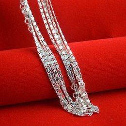 $enCountryForm.capitalKeyWord Australia - 1 PC Silver Plated Necklace Fine Fashion Cute 16 Inches Silver Plated Jewelry Necklace Chains Pendant chain
