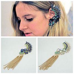 Las mujeres del oído armadura de piedras preciosas pendientes de las borlas de la joyería para las mujeres de cumpleaños regalo de Navidad Año Nuevo en venta