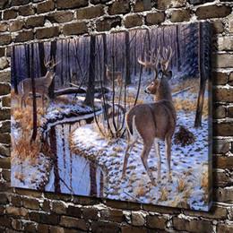 $enCountryForm.capitalKeyWord Australia - Challenge Deer Animal,Home Decor HD Printed Modern Art Painting on Canvas (Unframed Framed)