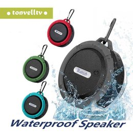 shower player Australia - C6 Speaker Wireless Bluetooth Speaker Waterproof Shower Speaker Stereo Music Player With Suction Cup Retail Package