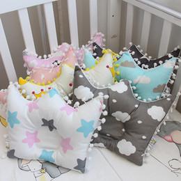 Design baby pillow online shopping - Newborn Baby Cotton Pillows Infant Crown Finalize Design Pillow Baby Boys Girls Cartoon Pillows Month