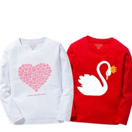 swans shirts Australia - New Arrival Baby Girls t shirts Spring Autumn 2019 Long Sleeve Kids Clothes Girl shirts Tees Tops Cotton Swan T-shirt for girl
