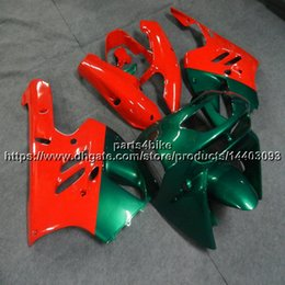 Chinese  5Gifts+Custom red green motorcycle Fairing For Kawasaki ZX9R 1994 1995 1996 1997 ZX-9R 94 95 96 97 ZX 9R ABS plastic kit manufacturers