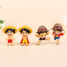 one piece mini figures UK - wholesale action figure luffy mini toy ONE PIECE promotion gift toys for boys dolls