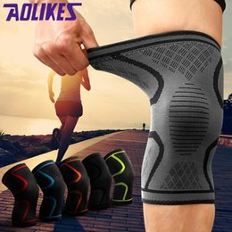 volleyball accessories 2019 - Wholesale- AOLIKES 1PCS Breathable Basketball Football Sport Safety Kneepad Volleyball Knee Pads Training Elastic Knee S