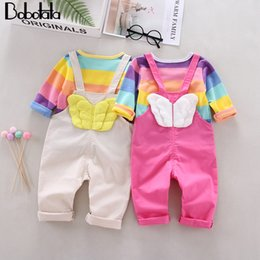 $enCountryForm.capitalKeyWord Australia - Bobotata Baby Girls Clothes Kids Clothes Sets Rainbow T-Shirt+Pants Children Clothing Infantil Outfits Suits For 1 2 3 4 Years