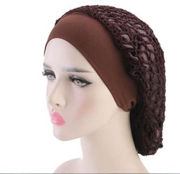 Crochet Snood Hair Net Australia - 2019 New Arrival Women's Vintage Full Head Crochet Hair Net Snood Sleep Bonnet Cap Hair Accessories