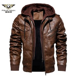 $enCountryForm.capitalKeyWord Australia - Men's Winter Faux Leather Jackets Business Casual Coat Motorcycle Biker PU Leather Jacket Hooded Zipper chaqueta cuero hombre
