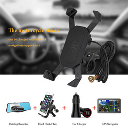 $enCountryForm.capitalKeyWord UK - Freeshipping Car-Styling Motorcycle Phone Mount Holder Bike ATV Handlebar Mount Stand Holder For Cell Phone GPS With USB Charger Universal