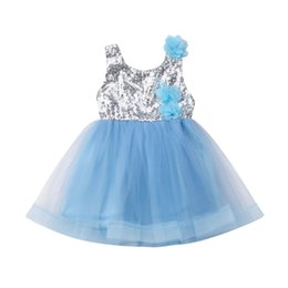 chiffon 3d flower tutu Australia - Fashion 2-7Year Girl Gown Sequins Patchwork Dress 2019 3D Flower Lace Sleeveless Princess Dress Summer Children Dresses Vestidos
