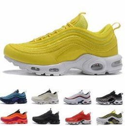new arrival ff056 b7386 Cheap New Mens 97 Plus Tn Designer Shoes Chaussures Homme 97 Plus Women  Sport Trainers Zapatiallas Hombre Tns Airs Cushion Run Shoe Eur36-45
