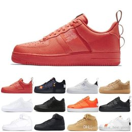 Golf cut online shopping - 2019 Dunk utility Men Women Shoes Cheap Low Cut One Shoes All White Black s Classic AF High Knit Skateboard Sports Shoes