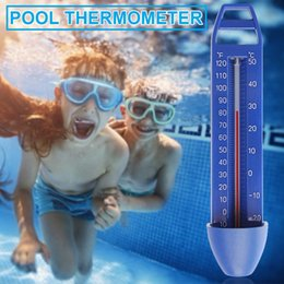 Wholesale New Water Thermometers Integrated Pocket Shatter Resistant For All Outdoor Indoor Swimming Pools Spas Hot Tubs Ponds