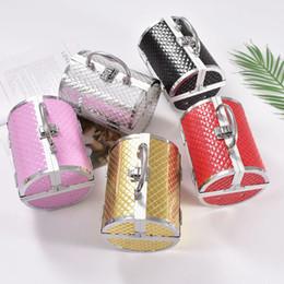 Aluminium mAke up online shopping - 2019 Pillow design Aluminium alloy Make up Box Makeup Case Beauty Case Cosmetic box Multi Tiers Lockable Jewelry Box SH190918