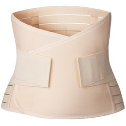 Discount belt bound - Stomach Waist Trainer Body Shaper Slimming Cincher Corset Belly Binding Postpartum Belly Recovery Reducing Belt Support