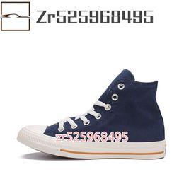 $enCountryForm.capitalKeyWord Australia - 2019 New High Cut Mens Women Fashion Classic Style Student Casual Comfort Couple White Blue Canvas Shoes 3.5-10.5