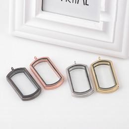 $enCountryForm.capitalKeyWord Australia - Fashion Magnetic Military card Floating Locket Pendant Square Living Memory Glass lockets DIY Charm For Necklace Jewelry Making