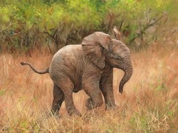 $enCountryForm.capitalKeyWord NZ - Artwork -baby-african-elelphant- Unframed Modern Canvas Wall Art for Home and Office Decoration,Oil Painting ,Animal painatings ,frame.