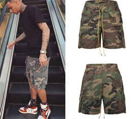 boys active pants Canada - Summer Elastic Waist Male Shorts Active Daily Big Pockets Boys Relaxed Pants Casual Mens Camouflage Cargo Pants