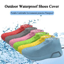 woods covers Australia - Reusable Non-slip Rain Shoes Covers Waterproof Silicone Shoes Cover Overshoes Outdoor Rubber Boots Shoe Protector Accessories