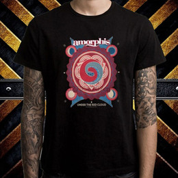 wholesale rock band t shirts UK - Amorphis Under The Red Cloud Rock Band Men's Black T-Shirt Size S M L XL 2XL 3XL
