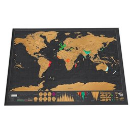$enCountryForm.capitalKeyWord Australia - Erase Black World Map Scratch Off World Map Personalized Travel Scratch For Map Room Home Decoration Wall Stickers