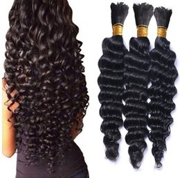 Discount deep bulk curly braiding hair - Braiding Hair Whlesale Deep Wave Crochet braids Curly Bulk Deep Curly Hair Bulk for micro ring beads