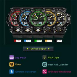 Men S Black Digital Watch Australia - Multi-function Electronic Mens Watch G Sport S LED Digital Wrist Watches for Men Reloj Hombre Saat Erkekler