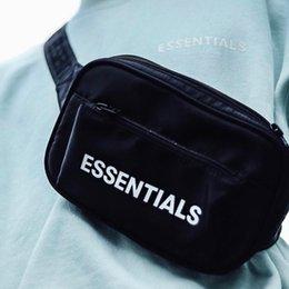 Venta al por mayor de TEMOR DE DIOS cadera FOG ESENCIALES bolso de la cintura del cuerpo cruzado paquete de viaje Calle Diagonal Hop paquete pequeño Bolsas bolsillos en el pecho Bolsas HFYMBB073