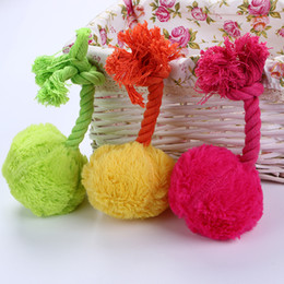 $enCountryForm.capitalKeyWord Australia - Foraway Dog Chew Toys with Squeaker Rope Pink Green Yellow Made In China Support Drop Shipping