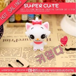 cute usb flash UK - Fashion Cute Cartoon Cat USB Flash Drive Memory Stick Pendrive USB Stick Pen Drive 64GB 32GB 16GB 8GB 4GB Flash Card