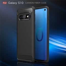 $enCountryForm.capitalKeyWord NZ - For Samsung Galaxy S10 Luxury Carbon Fiber Protection Case For Galaxy S10e Case Silicon Soft Case For Samsung S10 plus cover fundas