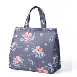 canvas floral lunch bag Australia - 2019 Hot Sell Picnic Lunch Bag Waterproof Travel Tote Box Fashion Floral Pattern Lunch Bags For Women Thermal Bag