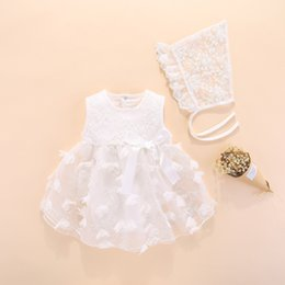 newborn baby girl princess clothing NZ - Newborn Dresses Summer With Flower 0 3 6 Month Baby Girl Dress For Party And Wedding Princess Style Clothes Q190518