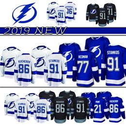 top Tampa Bay Lightning 86 Nikita Kucherov Hockey Jerseys 91 Steven Stamkos 88  Andrei Vasilevskiy 77 Victor Hedman 9 Johnson Jersey 2019 50f9d8653