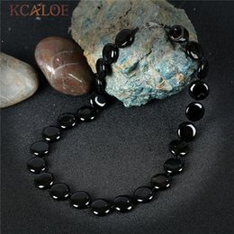 Onyx Stones Jewelry Australia - Kcaloe Black Onyx Fashion Necklaces For Women 2017 New Jewelry Round Design Handmade Natural Stone Vintage Necklace Colar J190526