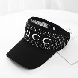 24da50bfcf024 2018 Newest designer golf hat sun visor sunvisor party hat baseball cap sun  hats sunscreen hat Tennis Beach elastic hats fast ship