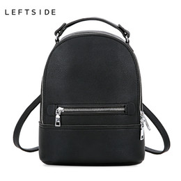 Styles Backpacks Australia - Leftside Simple Style Women Fashion Small Pu Leather Backpacks Female Backpack Travel Bag School Bags For Teenagers Girls 2018 Y19061204