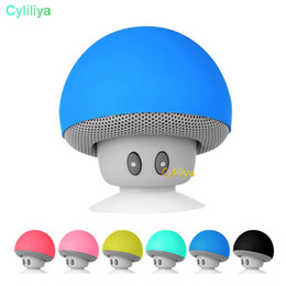 Iphone Stereo Player Australia - Mini Mushroom Wireless Bluetooth Speaker Portable Waterproof Shower Stereo Subwoofer Music Player For iPhone Mobile Phone