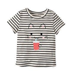 $enCountryForm.capitalKeyWord Australia - Latest Infant Baby Children's wear Summer Girl One shirt Design Number T- shirt Colorful color block shirts