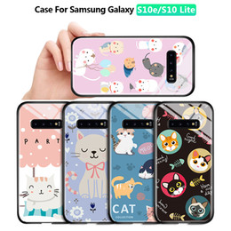 cartoon tempered glass iphone UK - For Samsung S7 S7Edge S8 S8 Plus Luxury Lovely Girls Cartoon Cat Glossy Casing Phone Case Shockproof Tempered Glass Back Cover