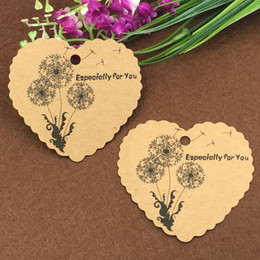 $enCountryForm.capitalKeyWord Australia - 1000pcs tags and 100pcs strings 6.5x6cm Dandelion specially for you paper hang tags for gift box  bag   bottle  wedding