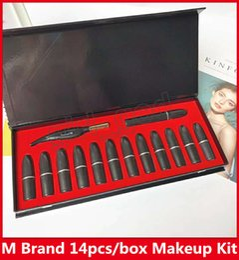 mascara set boxes 2019 - Look in a Box Endless Sunshine Feather Eyeliner Pen + Mascara + Matte Lipstick 14pcs set Makeup Set