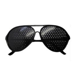 $enCountryForm.capitalKeyWord Australia - Black Unisex Vision Care Pin hole Eyeglasses pinhole Glasses Eye Exercise Eyesight Improve plastic DHL FREE SHIPPING