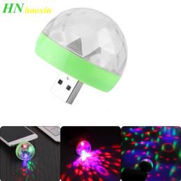 Wholesale HaoXin USB Mini Disco Lights,Portable Home Party Light,DC 5V USB Powered Led Stage Party Ball DJ Lighting,Karaoke Party Led Christmas