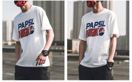 Ingrosso T-shirt da uomo girocollo a maniche corte T-shirt da uomo giapponese con stampa estiva T-shirt a manica corta da uomo