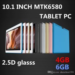 "allwinner 3g tablets UK - High quality 10 inch MTK6580 2.5D glasss IPS capacitive touch screen dual sim 3G GPS tablet pc 10"" android 7.0 Octa Core 4GB 64GB"