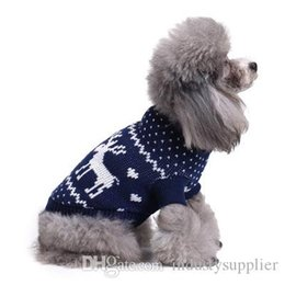 cheap wholesale winter sweaters Canada - Cheap dog sweater new Christmas pet sweaters Winter dog sweater knitwear Warm Coat Goods pet supplies